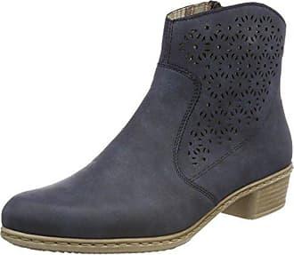 Rieker Y0735, Bottes Hautes Femme, Bleu (Jeans/Denim), 38 EU