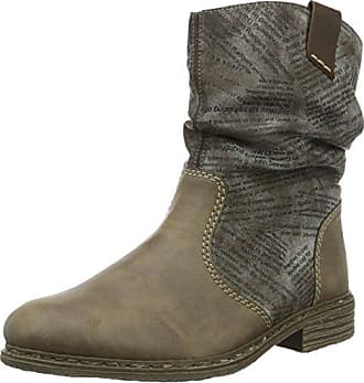 Damen Stiefel fumo/schwarz, 990794-9, color gris, talla 39 EU (6 Damen UK) Rieker