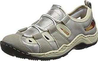 Rieker Damen M3705 Sneakers, Grau (Blei/Stahl/Altsilber/45), 39 EU