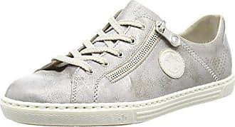 Rieker M3518, Zapatillas para Mujer, Gris (Cement/Grau-Silber), 38 EU