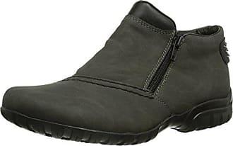 Rieker L4662, Damen Kurzschaft Stiefel, Grau (fumo/schwarz/45), 39 EU (6 Damen UK)