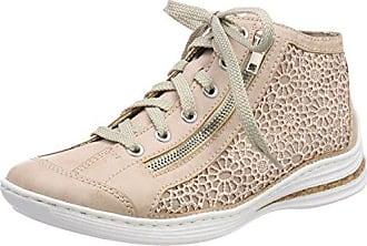 Rieker N5605, Zapatillas para Mujer, Multicolor (Navy-Lachs/Pazifik), 42 EU