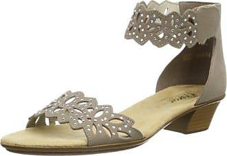 Rieker 68584-40 - Sandalias de Vestir Para Mujer, Color Gris, Talla 39