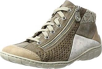 N4020, Zapatillas para Mujer, Gris (Vapor/Perle-Silber/Fango-Silver/40), 38 EU Rieker