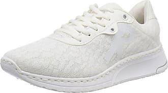 Rieker M5700, Zapatillas para Mujer, Blanco (Weiss-Silber/Weiss/Bianco), 42 EU