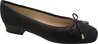 Riva Provence Damen Leder Ballerina Schuhe / Damen Schuhe (38 EUR) (Schwarz)