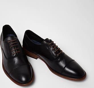 River Island Chaussures Oxford en cuir à lacets avec bout rapporté