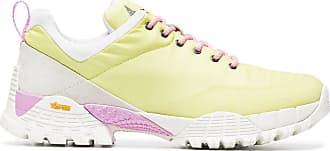 yellow Oblique Rippy suede sneakers - Yellow & Orange Roa