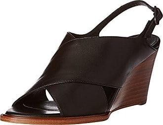 W7501, Sandales Bout Ouvert Femme - Noir - Noir, 40Mentor