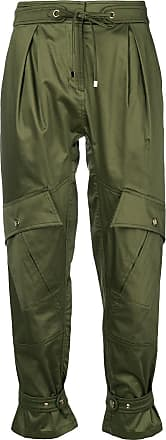 cropped high waist trousers - Green Roberto Cavalli
