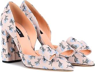 zapatos de tacón con brocado Rochas