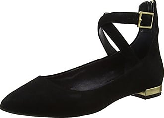Total Motion Adelyn Ballet, Bailarinas para Mujer, Negro (Black Kid Suede 2), 38.5 EU Rockport