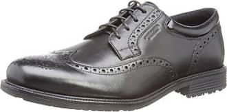 Rockport Essential Details II Wingtip - Zapatos Brouges para Hombre, Color Negro (Negro Piel), Talla 42