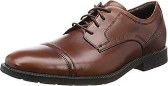 RockportEssential Details II Plain Toe - Zapatos Planos con Cordones Hombre, Color Negro, Talla 46.5