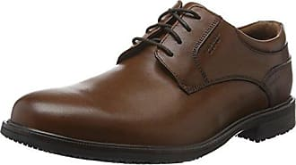 Rockport Cs Cap Toe - Zapatos de cordones, color Tan Scothgrain, talla 44.5
