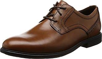 Eureka Nubuck, Zapatos de Cordones Derby para Hombre, Marrón (Chocolate), 44 EU Rockport
