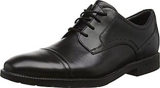 Rockport Wayde Mdgd Ox, Zapatos de Cordones Oxford para Hombre, Negro (Black), 44 EU