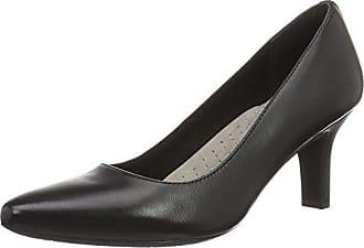 Kirsie, Zapatos de Tacón con Punta Cerrada para Mujer, Azul (Deep Ocean Pat 410), 36.5 EU Rockport