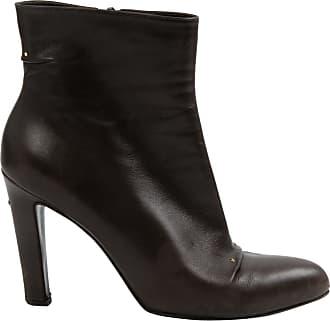 10cm Leather PODIUM Laser Cut ankle Boots Spring/summerRoger Vivier