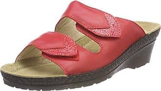 Rohde 1477 - Zuecos de Piel Mujer, Color Rojo, Talla 40 EU
