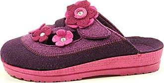 Rohde 2297 Neustadt-D Schuhe Damen Hausschuhe Pantoffeln Weite G Filz, Schuhgröße:41;Farbe:Blau