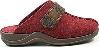 Rohde 2319 Vaasa-D Schuhe Damen Hausschuhe Pantoffeln Filz, Schuhgröße:37, Farbe:Rot