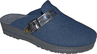 Rohde Neustadt Damen Pantoffeln Pantolette 2287 Grau Filz, Größe:D 42;Farbe:Grautöne