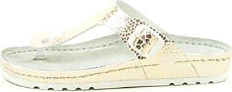 Rohde Riesa 5803 Damen Pantoletten Zehentrenner Metallic Weite G, Schuhgröße:40, Farbe:Rosa