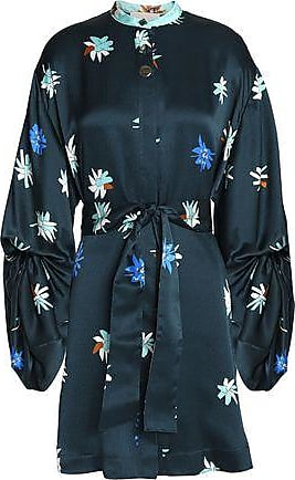 Roksanda Woman Silk-jacquard Mini Dress Petrol Size 8 Roksanda Ilincic
