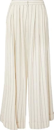 Pantalon Large En Crêpe De Chine à Rayures Zohra - BlancRoksanda Ilincic