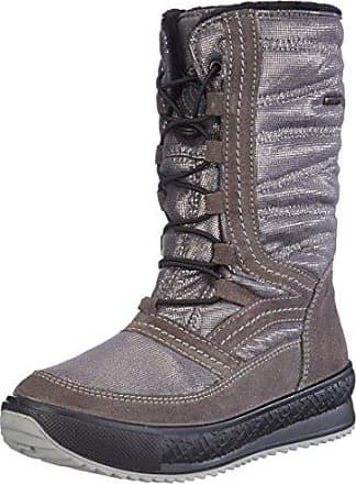 Jamron Damen Westlich Cowboy Stil Schneestiefel Modisch Knöchel Hoch Warm Pelz Gefüttert Quaste Schneestiefel Grau SN2801 EU41.5