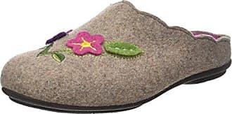 SOFIA-E09975-1-0264 - Zapatillas de Estar por Casa de Lona Mujer, Beige (Beige (Ecru 64)), 41 EU Rondinaud