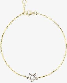 Rosa De La Cruz diamond star charm bracelet
