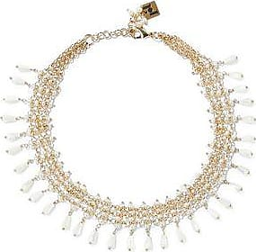 Rosantica Woman Kiwi Gold-tone, Freshwater Pearl And Crystal Necklace Gold Size Rosantica