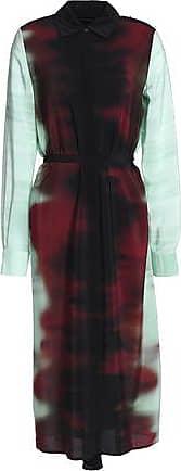 Rosetta Getty Woman Printed Silk Crepe De Chine Midi Dress Multicolor Size 2 Rosetta Getty