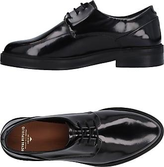 Royal RepubliQ Prime Fringe Shoe-BLK, Zapatos de Cordones Derby para Mujer, Negro (Black), 40 EU