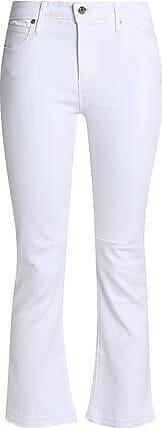 Rta Woman Cropped Frayed Mid-rise Slim-leg Jeans White Size 23 Rta