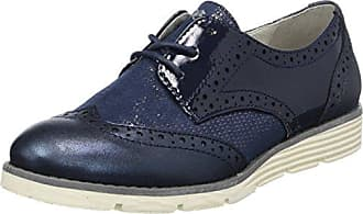 Ganter Gwen, Weite G, Zapatos de Cordones Brogue para Mujer, Azul-Blau (Navy/Asphalt 3161), 38 EU