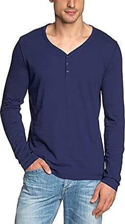 720223654092 - T-Shirt Manches Longues - Homme - Bleu (Delphine 858) - L (Taille Fabricant L)Marc O'Polo