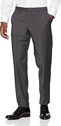 Hose Lang, Pantalones de Traje para Hombre, Gris (Grey/Black Stripes 98G1,Grau), 90 s.Oliver Black Label