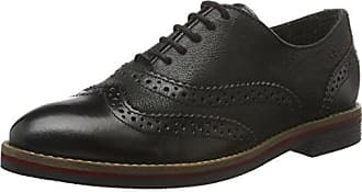s.Oliver Damen 23652 Derby, Schwarz (Black Metallic 35), 41 EU