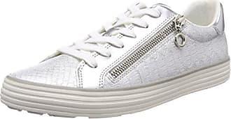 23615, Sneakers Basses Femme, Blanc (White/Silver), 40 EUs.Oliver