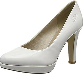 24401, Escarpins Femme, Blanc (White Patent), 41 EUs.Oliver