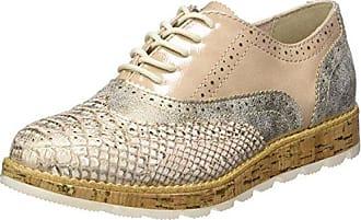 s.Oliver 23651, Zapatos de Cordones Brogue para Mujer, Blanco (White Comb.), 36 EU