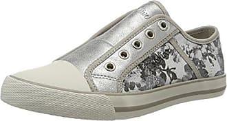 s.Oliver 24626, Zapatillas para Mujer, Multicolor (Silver/Black 932), 36 EU