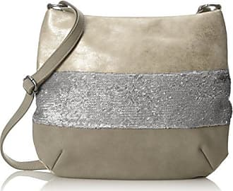 Bags Damen Hobo Bag Henkeltasche, Silber (Silver), 12x29x35 cm s.Oliver