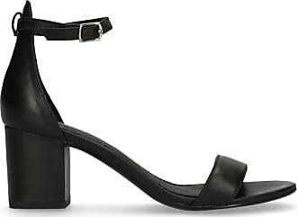 Schwarze Veloursleder-Sandaletten mit Blockabsatz (36,38,39,40,41,42)