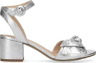 Silberne Glitzer-Sandalen mit Knoten (37