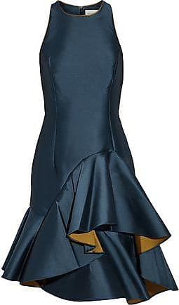 Sachin & Babi Woman Cleo Asymetric Ruffled Faille Dress Bright Blue Size 14 Sachin & Babi