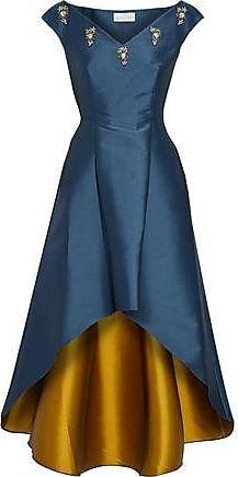 Sachin & Babi Woman Elsa Embellished Duchesse Satin-twill Dress Storm Blue Size 12 Sachin & Babi